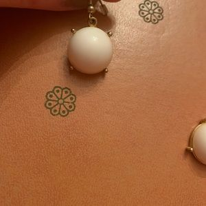 Jewelry - White and Gold Dangle Earrings